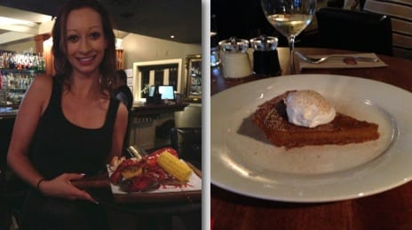 lobster and pumpkin pie at Earls