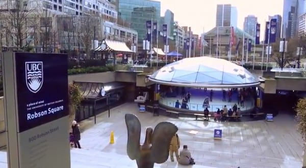 Robson Square Ice Skating in Vancouver